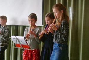 Die Flötenkinder sind mit dabei