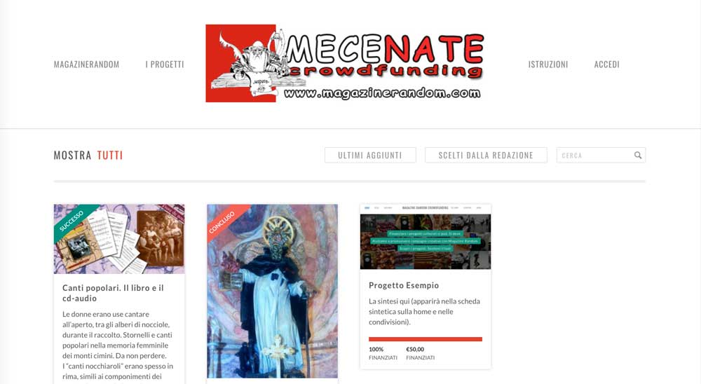Mecenate Crowdfunding