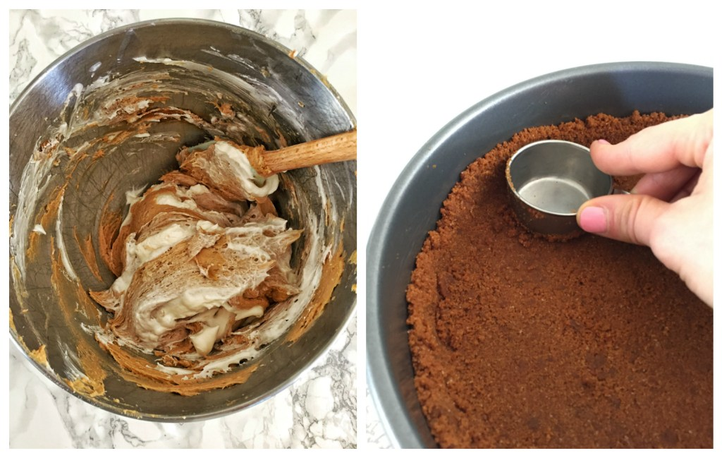 Cookie Butter Pie - Mixing