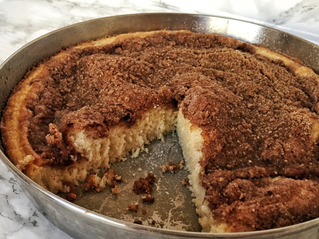 Cinnamon Sugar Crumb Coffee Cake - her modern kitchen