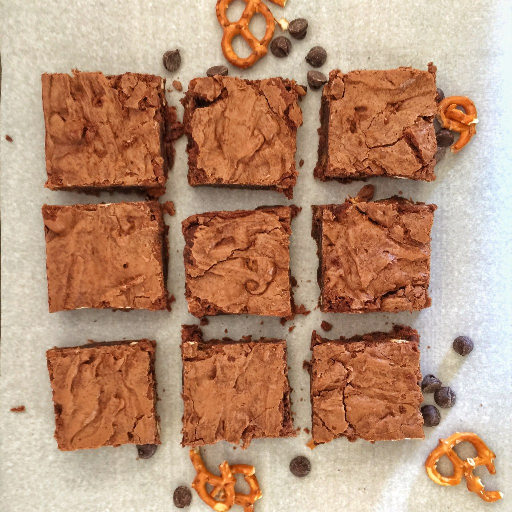 Salted Caramel Pretzel Brownies 4