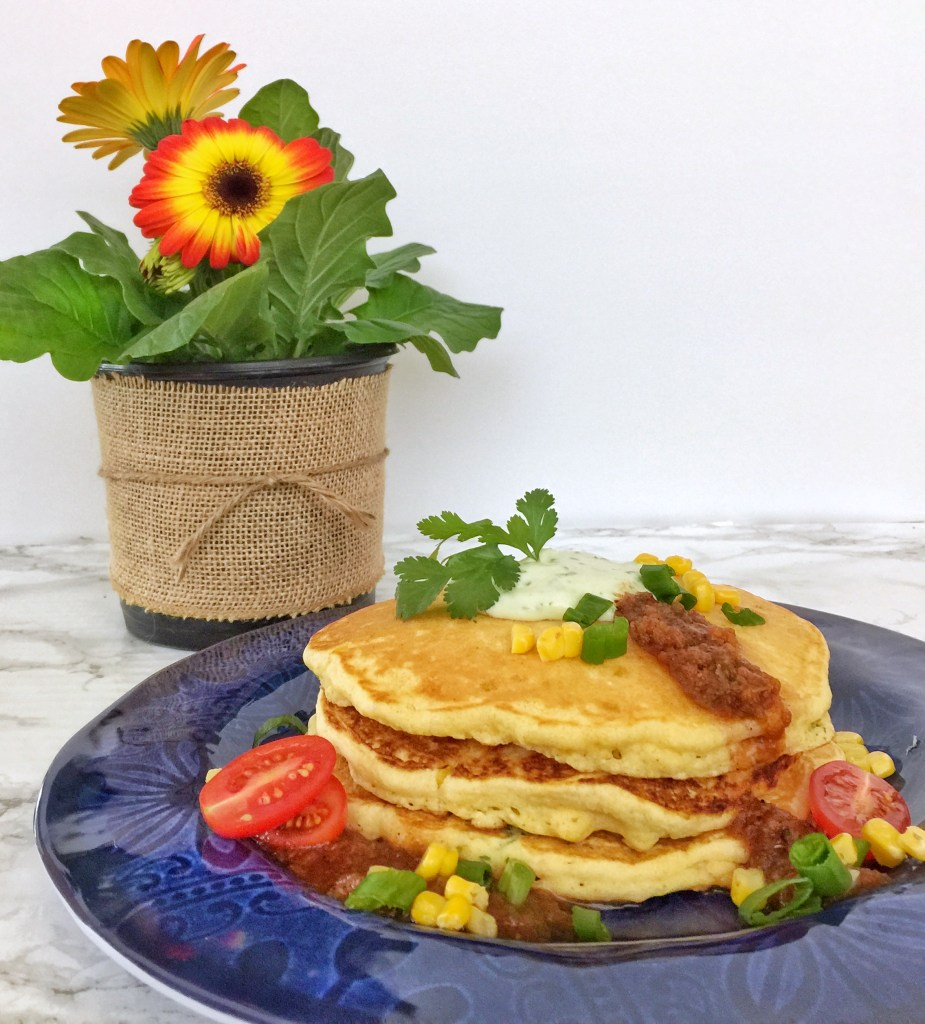 Jalapeño Johnnycakes with Flower