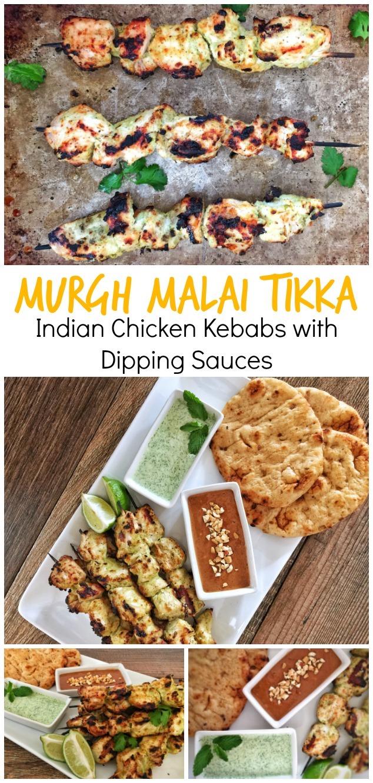 Murgh Malai Tikka Kebabs Pinterest