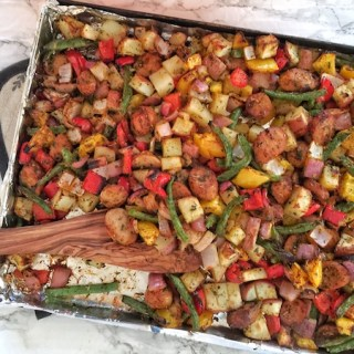 Chicken Sausage Sheet Pan 2