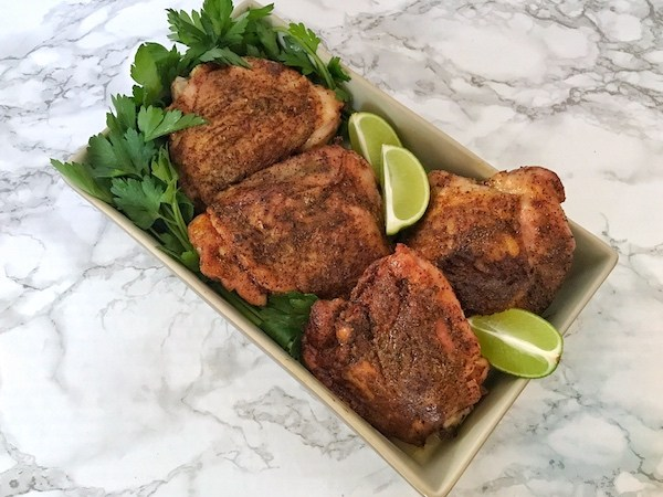 Baked Moroccan Chicken Thighs