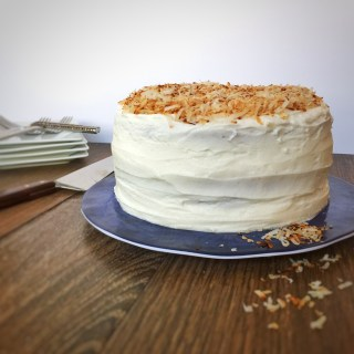 Springtime Coconut Cake with Lime Curd