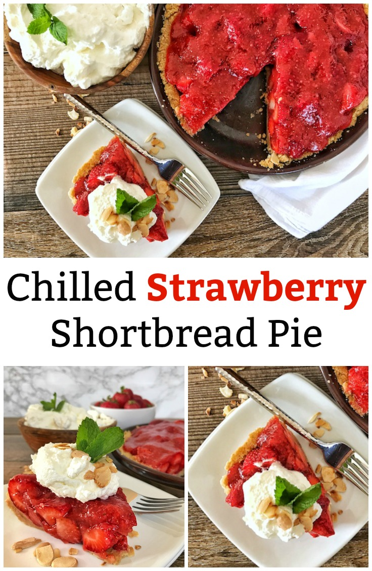 Chilled Strawberry Shortbread Pie Pin