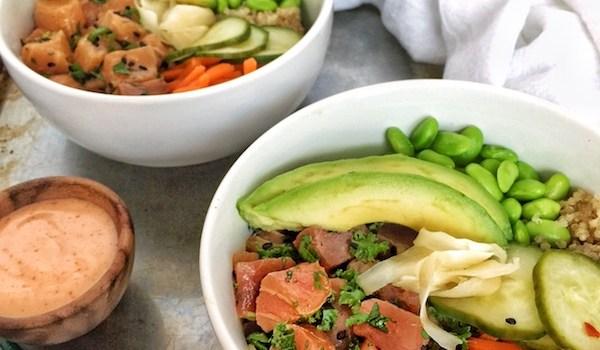 Quinoa Poke Bowls Two Ways