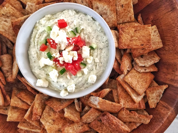 Whipped Greek Feta Dip with Pita