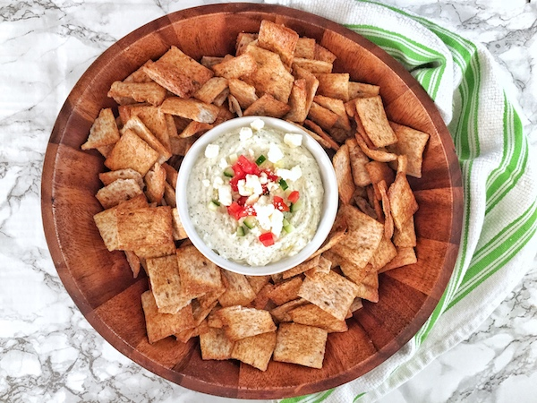 Whipped Greek Feta Dip Served