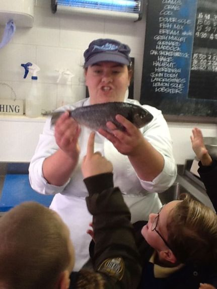 All children were thrilled to get up close and personal with sea creatures such as crabs, King Tiger prawns and Dover Sole.