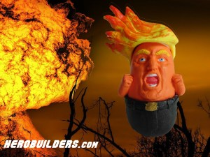 Trump Baby with Hair on Fire Figurine