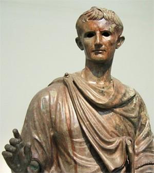Auguste, statue en bronze (musée national d'Athènes)