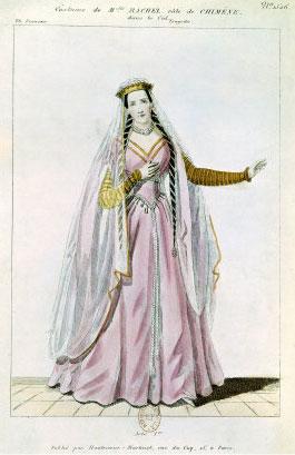La comédienne Rachel (1821-1858) dans le rôle de Chimène (XIXe siècle, Bibliothèque de L'Arsenal)