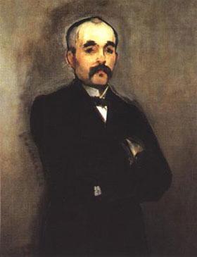 Georges Clemenceau, par Edouard Manet (1879, huile sur toile, 95x74cm, musée d'Orsay)