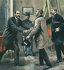 Dreyfus avec ses avocats Demange et Labori en 1899