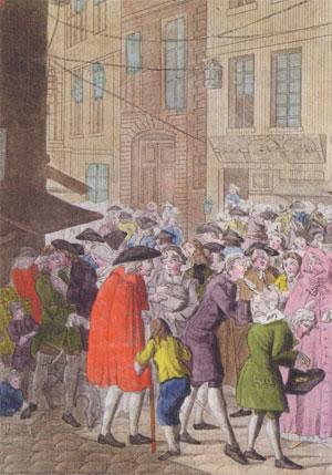 Spéculateurs de la rue Quincampoix (gravure, 1720)
