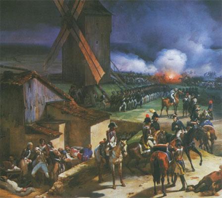 Valmy, oeuvre de JB Mauzaisse, d'après Horace Vernet (détail, Musée de Versailles)