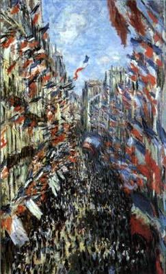 Rue Montorgueil, fête nationale du 30 juin (Claude Monet, 1878, musée du Louvre) >