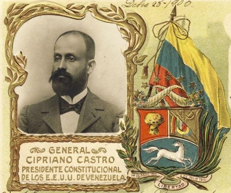 Cipriano Castro, président des États-Unis du Venezuela (carte postale de 1900)