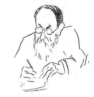 Caricature du Dr. Le Gendre (Paris médical : la semaine du clinicien, 1912, n° 06, partie paramédicale)
