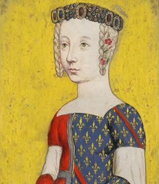 Bonne de Bourbon épouse en 1355 Amedée VI, comte de Savoie dit le Vert. L'agrandissement montre le château de Ripaille.