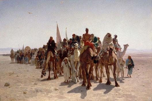 Pèlerins se rendant à La Mecque (Léon Belly, 1881, Musée d'Orsay, Paris)