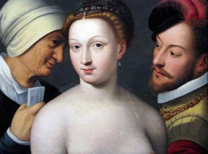 Le billet doux (François Clouet, 1570, musée du Prado, Madrid)
