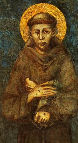 Saint François (par Cimabue, 1240 - 1302)