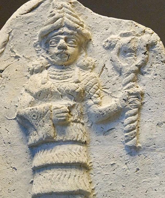 Ishtar, déesse sumérienne de la fécondité (terre cuite, Ershunna, IIe millénaire av. J.-C., musée du Louvre, Paris)