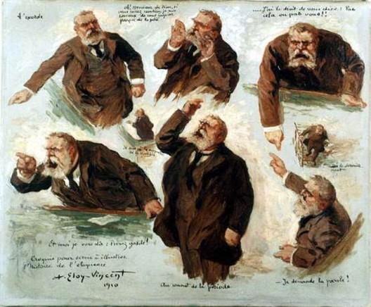 Jean Jaurès, Croquis pour servir à illustrer l'histoire de l'éloquence (1910, Eloy-Vincent, musée Jean Jaurès, Castres)