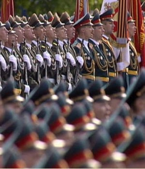 Défilé du 9 mai 2014 sur la place Rouge à Moscou (DR)