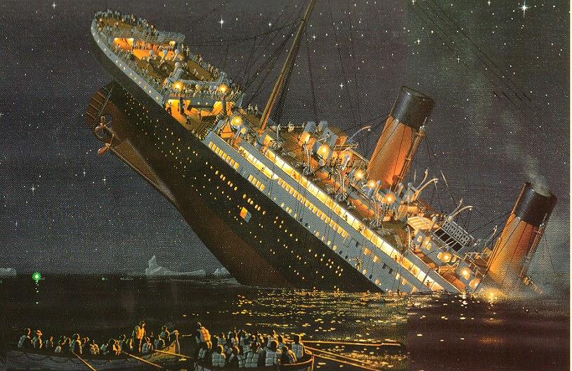 Le naufrage du Titanic (gravure d'époque)