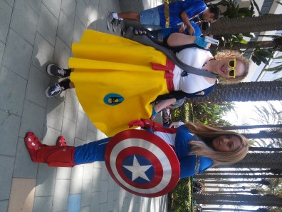'50s Poodle Skirt Wolverine and Captain America
