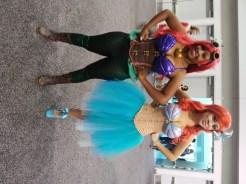 Ursula and Ariel - Posing Like Superheroes