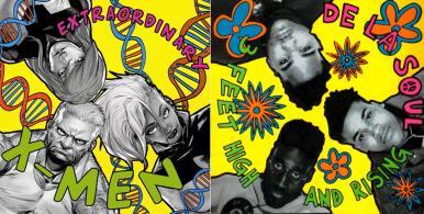 "Extraordinary X-Men #1 / De La Soul's ""3 Feet High and Rising"" - art by Sanford Green"