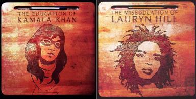 "Ms. Marvel #1 / Lauryn Hill's ""The Miseducation of Lauryn Hill"" - art by Jenny Frison"
