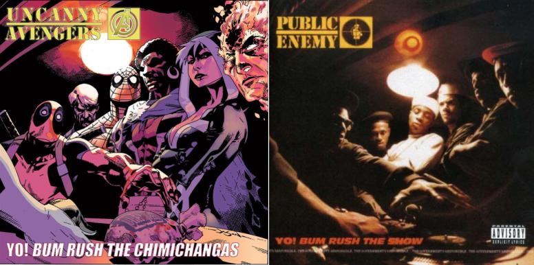"""Uncanny Avengers #1 / Public Enemy's """"Yo Bum Rush the Show"""" - art by Jason Pearson"""