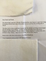 Letter from the school