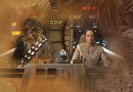 Chewie and Rey