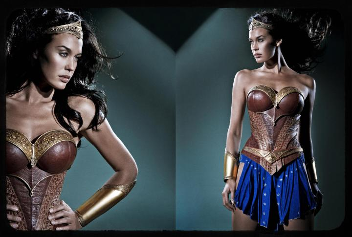 "Megan Gale as Wonder Woman from George Miller's ""Justice League Mortal"""