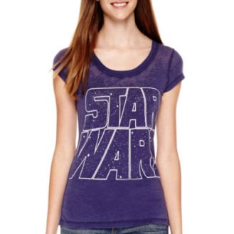 Star Wars Short-Sleeve Burnout T-Shirt - JCPenney