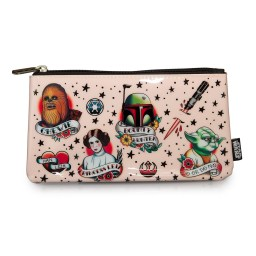 Star Wars Tattoo Flash Print Coin/Cosmetic Bag - Loungefly