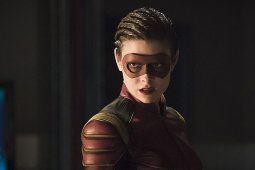 """The Flash -- """"Trajectory"""" -- Image FLA216b_0172b -- Pictured: Allison Paige as Trajectory -- Photo: Katie Yu/The CW -- © 2016 The CW Network, LLC. All rights reserved."""