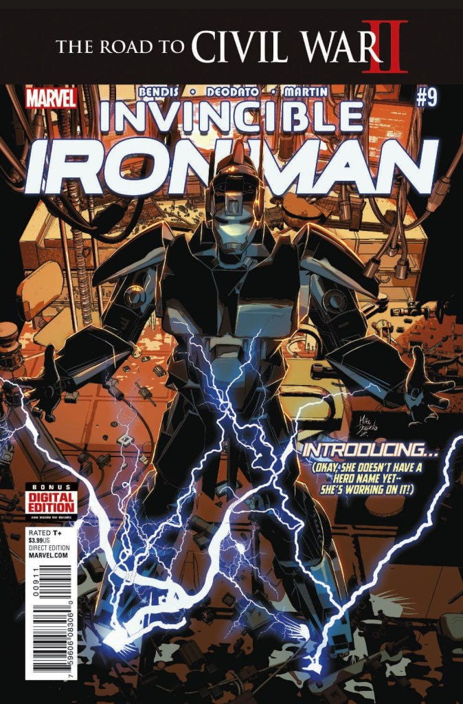Invincible Iron Man 9 - Cover by Mike Deodato Jr.