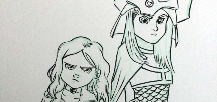 Anya and Stella Sketch header