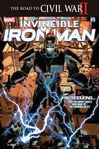 Invincible Iron Man #9 - 1st Riri in armor