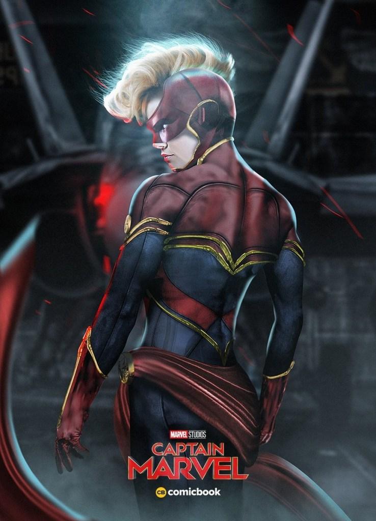 Brie Larson as Captain Marvel - art by BossLogic