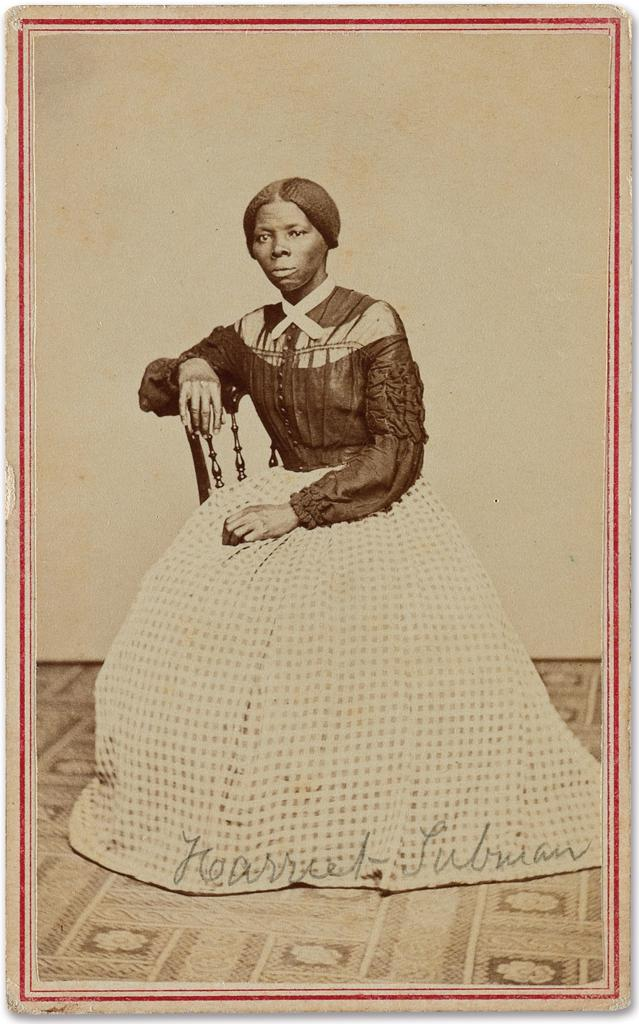 This image provided by Swann Auction Galleries shows an undated photograph of Harriet Tubman, the 19th century abolitionist. Experts said the newly discovered photo of the Maryland-born Underground Railroad hero was taken in Auburn, N.Y., in the late 1860s. The newly designated Harriet Tubman national historic site in central New York launched a crowdfunding campaign to buy the rare photograph. It is to be auctioned March 30, 2017, in New York. (Courtesy Swann Auction Galleries via AP)