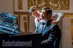 "The Flash -- ""Duet"" -- FLA317b_0521b.jpg -- Pictured (L-R): Darren Criss as Music Meister and Jeremy Jordan as Winn Schott -- Photo: Jack Rowand/The CW -- © 2017 The CW Network, LLC. All rights reserved."